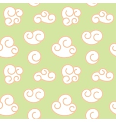 Retro seamless clouds backgroung vector