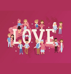 romantic couples in love vector image