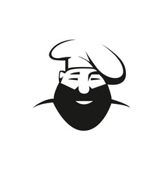 Rustic chef outline vector