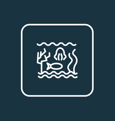 sealife icon line symbol premium quality isolated vector image