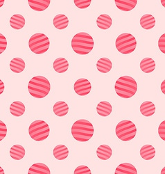 Seamless Pink Dots Background Pattern vector image