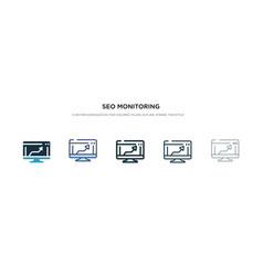 seo monitoring icon in different style two vector image