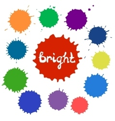 Set of bright color spots vector image