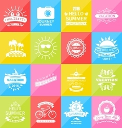 Set Summer Holidays Labels Design Elements vector image