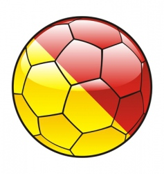 Sicily flag on soccer ball vector image