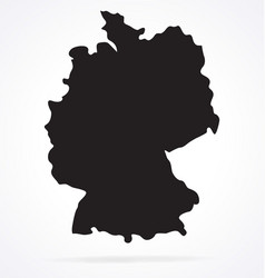 Simplified germany deutschland map silhouette vector