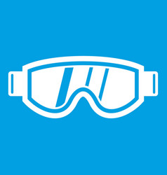 skiing mask icon white vector image