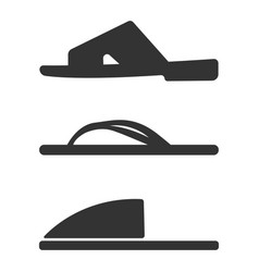 slippers icon set simple set of slippers icons vector image