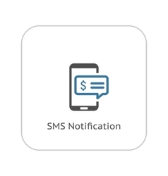 SMS Notification Icon Flat Design vector image