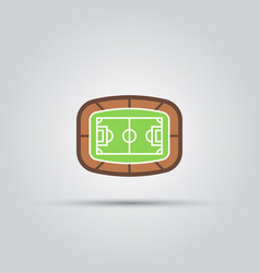 soccer area stadium top view isolated icon vector image