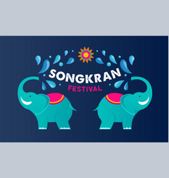 songkran - water festival in thailand thai new vector image