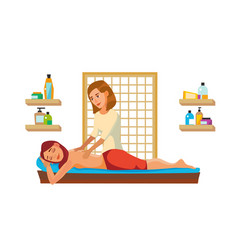 Spa massage wellness salon anti aging spa vector