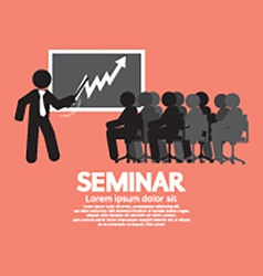 Speaker With Audiences In Seminar vector image