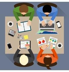Staff around table vector