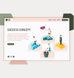 Success stories landing page vector