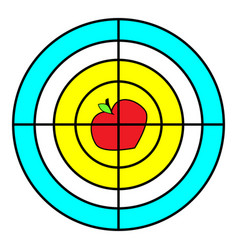 target with apple for a tripod goal achieve vector image