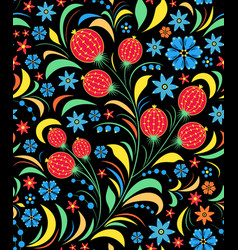 Traditional russian floral ornament vector