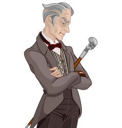 Victorian era gentleman vector