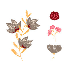 Watercolor design element bird banners and vector