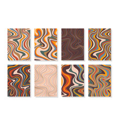 Wavy psychedelic backgrounds abstract ripple vector