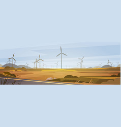 Wind turbine energy renewable station nature vector