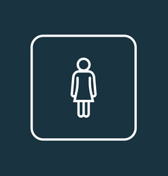 Woman outline symbol premium quality isolated vector