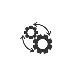 Workflow icon in flat style gear effective on vector