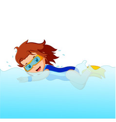 young woman snorkeling vector image