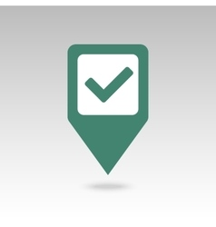 Check pin map icon Map pointer markers vector image