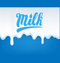drip of milk vector image