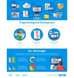 Programming and app development advertising vector