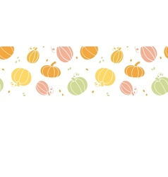 thanksgiving colorful pumpkins silhouettes vector image vector image