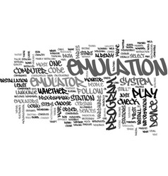 whats a ps emulator text word cloud concept vector image vector image