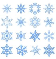 Big set snowflake flake of snow vector