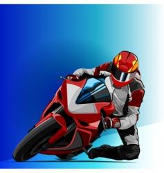 bike racing vector image