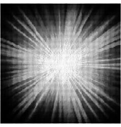 Burst halftone background vector