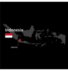 Detailed map of Indonesia and capital city Jakarta vector image vector image