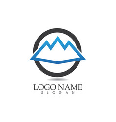 mountain nature landscape logo and symbols icons vector image