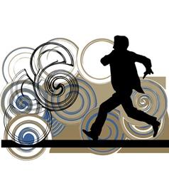 Runner in action vector image