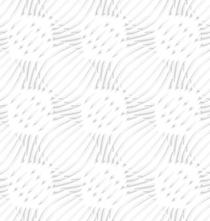 White simple wavy with small details seamless vector image vector image