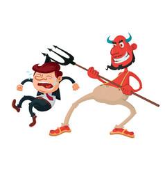 devil and sinner vector image