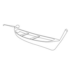 pirogue flat icon and sign vector image vector image