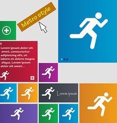 running man icon sign buttons Modern interface vector image vector image