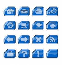 web icons b blue vector image vector image