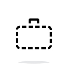 Absence case simple icon on white background vector image vector image