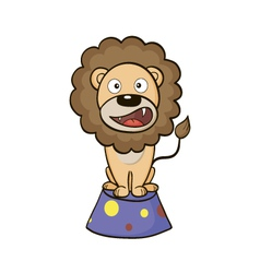 Circus lion on a pedestal vector image vector image