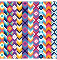 Multicolor ethnic stripe pattern vector image vector image