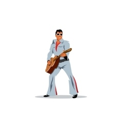 Musician artist with a guitar in the image of vector image vector image