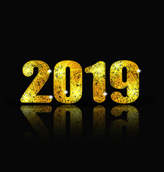 2019 new year brilliant inscription and its vector image
