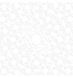 3d white arabic pattern vector image
